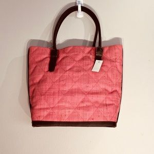 . Bags - Gorgeous Straw & Leather Peach Bag**$395